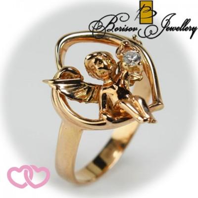 Золотое ювелирное украшение с цирконием 450-10700