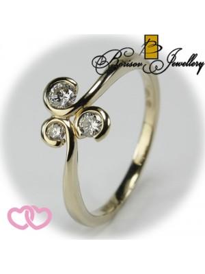 Золотое ювелирное украшение с бриллиантом 551-10133