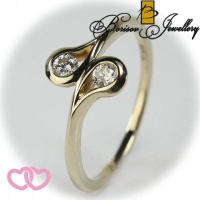 Золотое ювелирное украшение с бриллиантом 551-10137