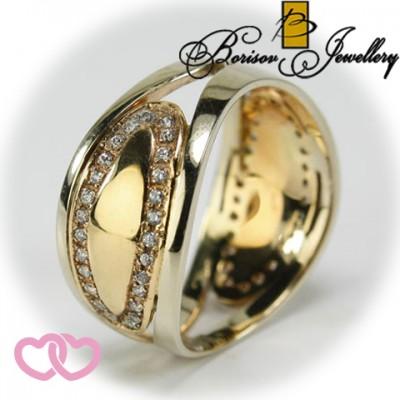 Золотое ювелирное украшение с цирконием 851-10082