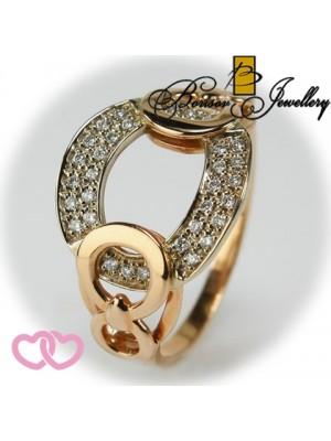 Золотое ювелирное украшение с бриллиантом 951-10116