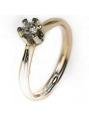 Gold ring for engagement