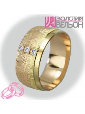 Женское обручальное кольцо с бриллиантом 151-2V005M ♀