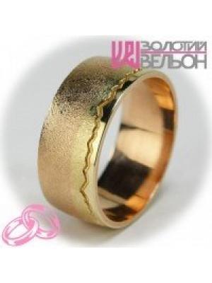 """Комбинированное обручальное кольцо """"Пылающий свет"""" ♂"""