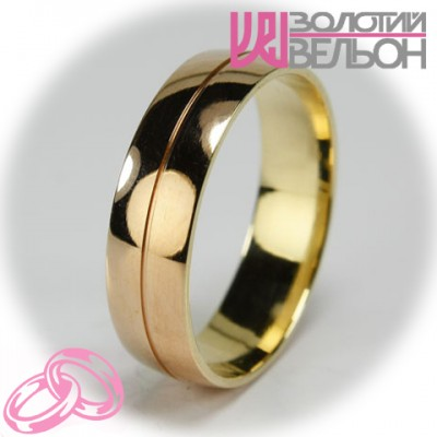Мужское обручальное кольцо 150-2V032 ♂