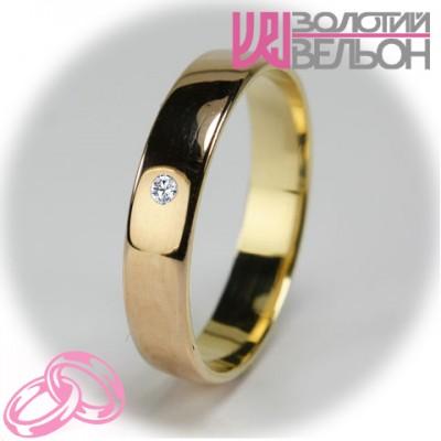 Женское обручальное кольцо с бриллиантом 151-2V035 ♀