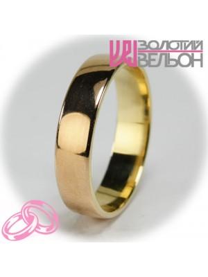 Мужское обручальное кольцо 150-2V035 ♂