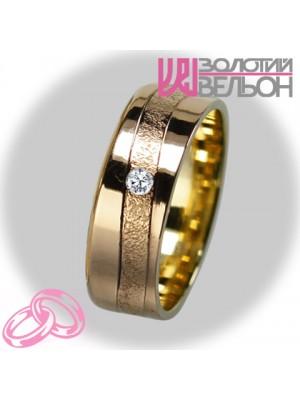 Женское обручальное кольцо с бриллиантом 151-2V027 ♀
