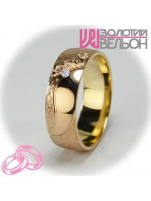 Женское обручальное кольцо с бриллиантом 151-2V031 ♀