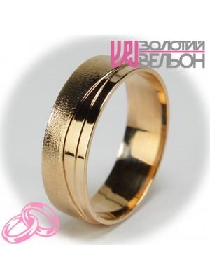 Мужское обручальное кольцо 450-2V025 ♂
