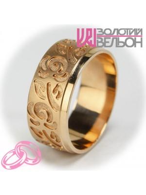 Женское обручальное кольцо с бриллиантом 451-2V024 ♀