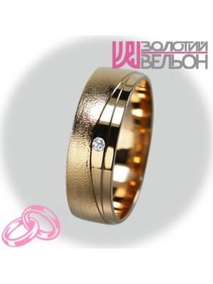 Женское обручальное кольцо с бриллиантом 451-2V025 ♀