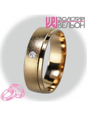 Жіноча обручка з діамантом 451-2V025M ♀