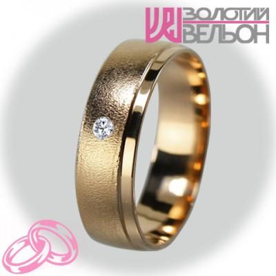 Женское обручальное кольцо с бриллиантом 451-2V025M ♀