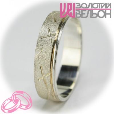 Мужское обручальное кольцо 550-2F002 ♂