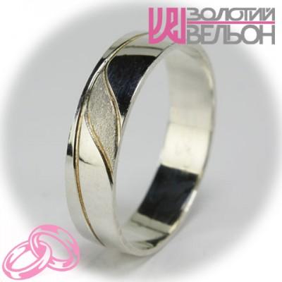 Мужское обручальное кольцо 550-2F003 ♂