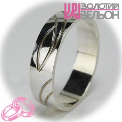 Мужское обручальное кольцо 550-2F005 ♂