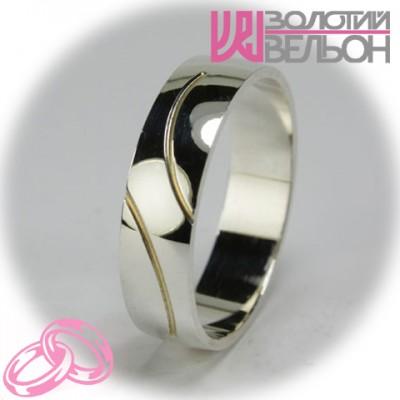 Мужское обручальное кольцо 550-2F006 ♂