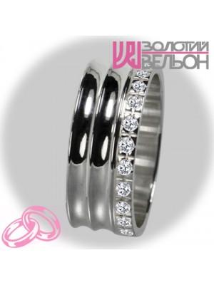 Женское обручальное кольцо с бриллиантом 551-2F009 ♀