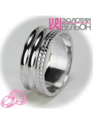 Мужское обручальное кольцо 550-2F009 ♂