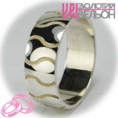 Мужское обручальное кольцо 550-2F012 ♂