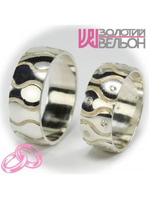 Пара обручальных колец F012