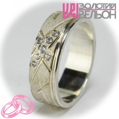 Женское обручальное кольцо с бриллиантом 551-2F002 ♀
