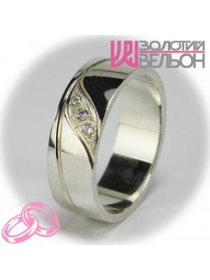 Кольцо с бриллиантом для женщин 551-2F003 ♀