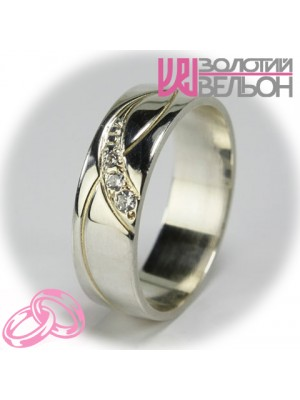 Women's wedding ring with diamond 551-2F005 ♀