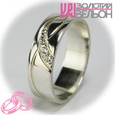 Женское обручальное кольцо с бриллиантом 551-2F005 ♀