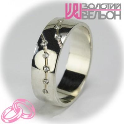 Женское обручальное кольцо с бриллиантом 551-2F006 ♀