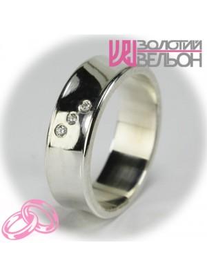 Women's wedding ring with diamond 551-2F007 ♀