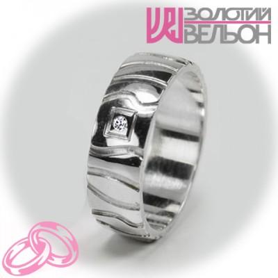 Женское обручальное кольцо с бриллиантом 551-2F008 ♀