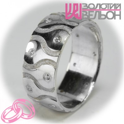 Женское обручальное кольцо с бриллиантом 551-2F012 ♀