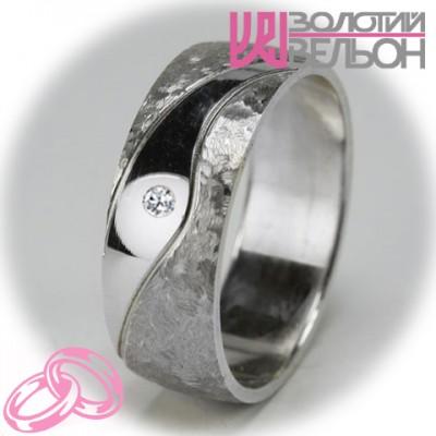 Женское обручальное кольцо с бриллиантом 551-2F013 ♀