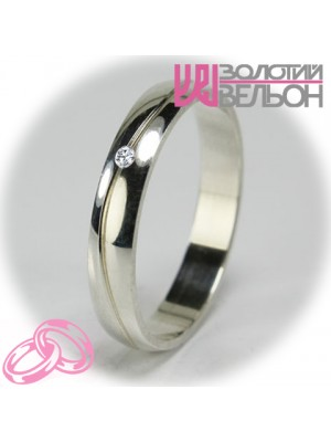 Women's wedding ring with diamond 551-2F014 ♀