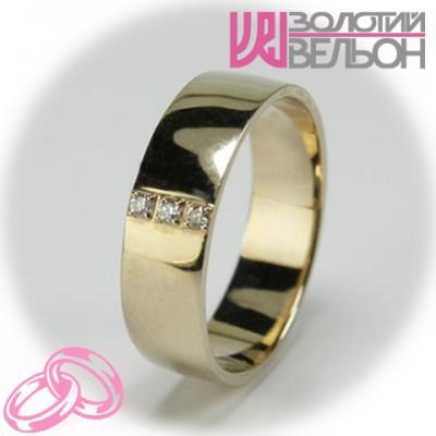 Женское обручальное кольцо с бриллиантом 551-2z002 ♀