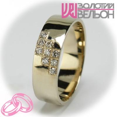 Женское обручальное кольцо с бриллиантом 551-2z003 ♀