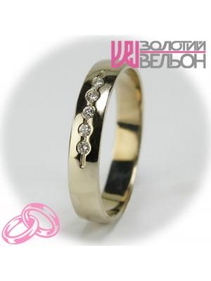 Женское обручальное кольцо с бриллиантом 551-2z004 ♀