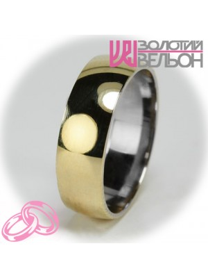 Мужское обручальное кольцо 750-2V014 ♂