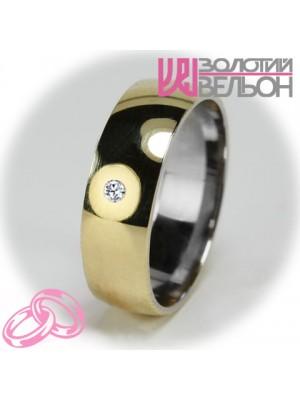 Женское обручальное кольцо с бриллиантом 751-2V014 ♀