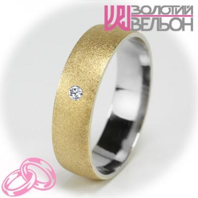Женское обручальное кольцо с бриллиантом 751-2V014M ♀
