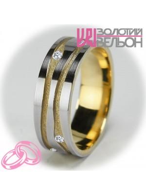 Женское обручальное кольцо с бриллиантом 951-2V001 ♀