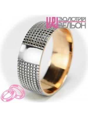 Мужское обручальное кольцо 950-2V010 ♂