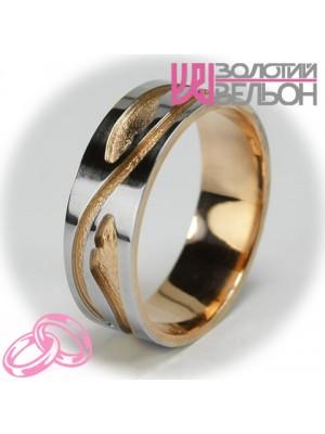Женское обручальное кольцо с бриллиантом 951-2V012 ♀