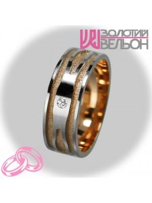 Женское обручальное кольцо с бриллиантом 951-2V013 ♀