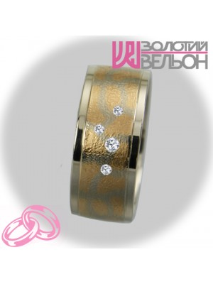 Women's wedding ring with diamond 951-2V022 ♀