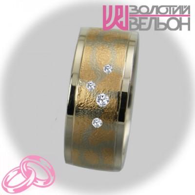 Женское обручальное кольцо с бриллиантом 951-2V022 ♀