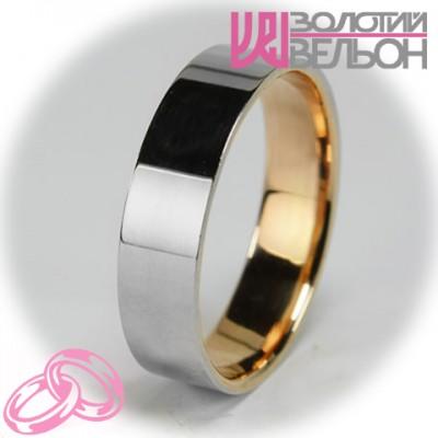 Мужское обручальное кольцо 950-2V028 ♂