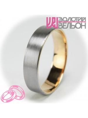 Мужское обручальное кольцо 950-2V029 ♂